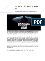 Mass Effect Movie 10 Ways to Make It Not Suck - GameBasin.com