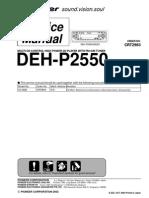 Pioneer Deh p2550
