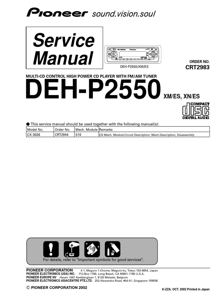 pioneer deh 3900mp wiring diagram pioneer deh p2550 electrical connector compact disc  pioneer deh p2550 electrical
