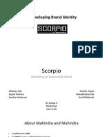 Scorpio- Marketing An Automobile Brand