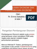 Pembangunan Ekonomi Dan Pertumbuhan Ekonomi