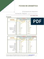 Recursos D_ELE Gramática El Presente de Subjuntivo Regular Formación