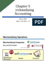 Ch5 Merchandising Accounting