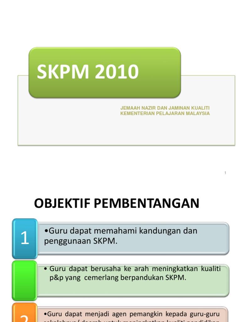 Skpm 2010 Jemaah Nazir Dan Jaminan Kualiti Kementerian Pelajaran Malaysia
