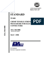 Eia-364-08b-05-98 - Crimp Tensile Strength Test Pr Ocedure for Electrical Connectorspdf