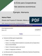Presentación. a. Factores de Éxito Para Cooperativas en Diferentes Sectores Económicos. Helmut Pabst. 2012