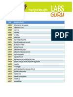 Mechanical Major Project List