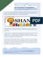 Shanti Junior Preschool in Bangalore