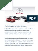 Summary case toyota motor manufacturing u s a inc
