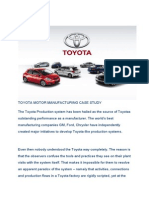 Toyota Motor Manufacturing Case Study