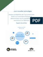 Analyse Probabiliste de l'Occurrence Des Fontis Sur Le Territoire Francais