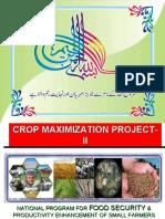 Irfan Arshad on Project Brief for Food Secuirity Program, Crop maximization Projecty-II