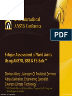 2008 Int ANSYS Conf Weld Joint Assessment