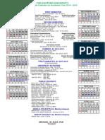 FEU Collegiate Calendar AY 2014-2015
