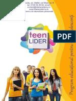 Teen Lider - dezvoltare personala pentru tineri marca Lider Academy