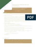 Standar Operasional Prosedur Pre Dan Post Conference