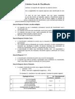 Critérios Gerais de Classificação Exame Nacional