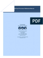 FeatureCAM Post Processor Reference Manual
