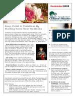 Parent Newsletter December 2009
