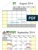 2014-2015 Staff Calendar 04.29.2014