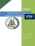 Separación de C10 de Una Mezcla de Parafinas Lineales- Daniel Pérez Esplá, Fco Javier Ruíz Jorge y María Velázquez Barbosa