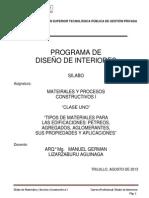 Materiales y Procesos Constructivos - Clase 01