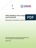 APEC Building Codes, Regulations and Standards