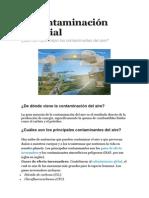 La Contaminación Mundial