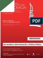 Estado, Administración y Políticas Públicas