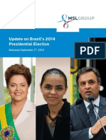 An Update on Brazil's 2014 Presidential Elections - September 2014