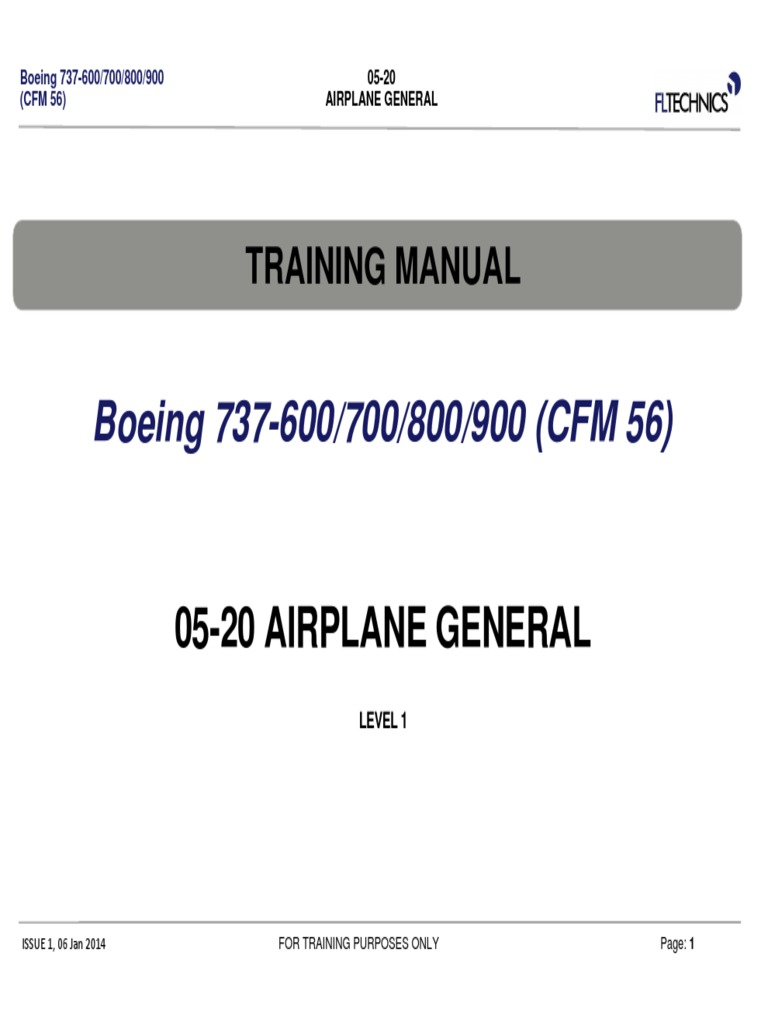 Boeing 737 NG 05-20 Level 1 pdf | Landing Gear | Airplane
