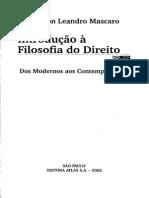 Alysson Leandro Mascaro - Introdução aFilosofia Do Direito - Dos Modernos Aos Contemporâneos - Ano 2002