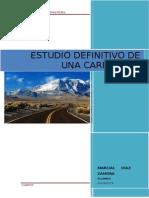 Estudio Definitivo Carretera San Cristobal