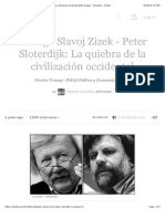 Diálogo Slavoj Zizek - Peter Sloterdijk La quiebra de la civilización occidental (with images) · filosofiacr · Storify