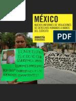 informe de Amnistía internacional sobre las violaciones a los  derechos humanos a manos del ejercito mexicano