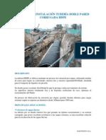 Provision e Instalacion Tuberia Corrugada Hdpe Con Control Final