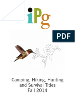 IPG Fall 2014 Outdoor-Camping, Hiking, Hunting, And Survival Titles