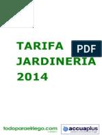Tarifa jardineria 2014 todoparaelriego