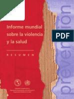 Informe Sobre La Violencia OMS