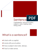 what are sentences  ppt