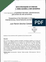 Perspectivas de La Info en Internet Ciberdemocracia Redes Sociales Web Semantica