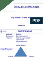 1Clase Mecanica Cuerpo Rigido 2014 I
