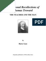 Thomas Troward the Teacher and the Man