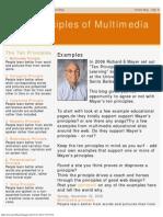 Ten Principles of Multimedia Learning (Mayer)