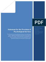 Statement for the Provision of Psychological Services 2013 Final