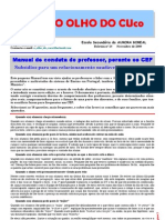 Manual de conduta do professor, perante os CEF