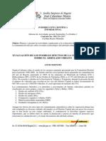 Evaluacion de Los Posibles Efectos de La Contaminacion Sobre El Arbolado