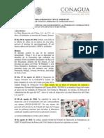 Informe Acciones de la CONAGUA ante derrame en el Río Sonora al 28-08-2014