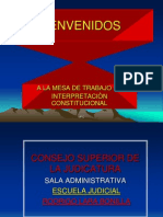INTERPRETACIÒN  CONSTITUCIONAL