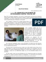 03 de septiembre de 2014.- 50 AÑOS AL CUIDADO DE LA SALUD MENTAL DE LOS OAXAQUEÑOS, HOSPITAL CRUZ DEL SUR